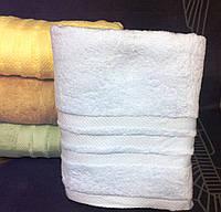 Махровое однотонное полотенце для сауны ГОЛУБОЕ
