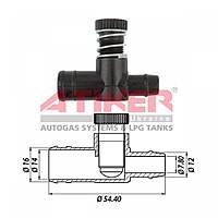 Дозатор мощности (винт жадности) Atiker 16 х 16 пластик (VA.21616)