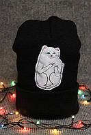 Модная черная шапка, зимняя шапка