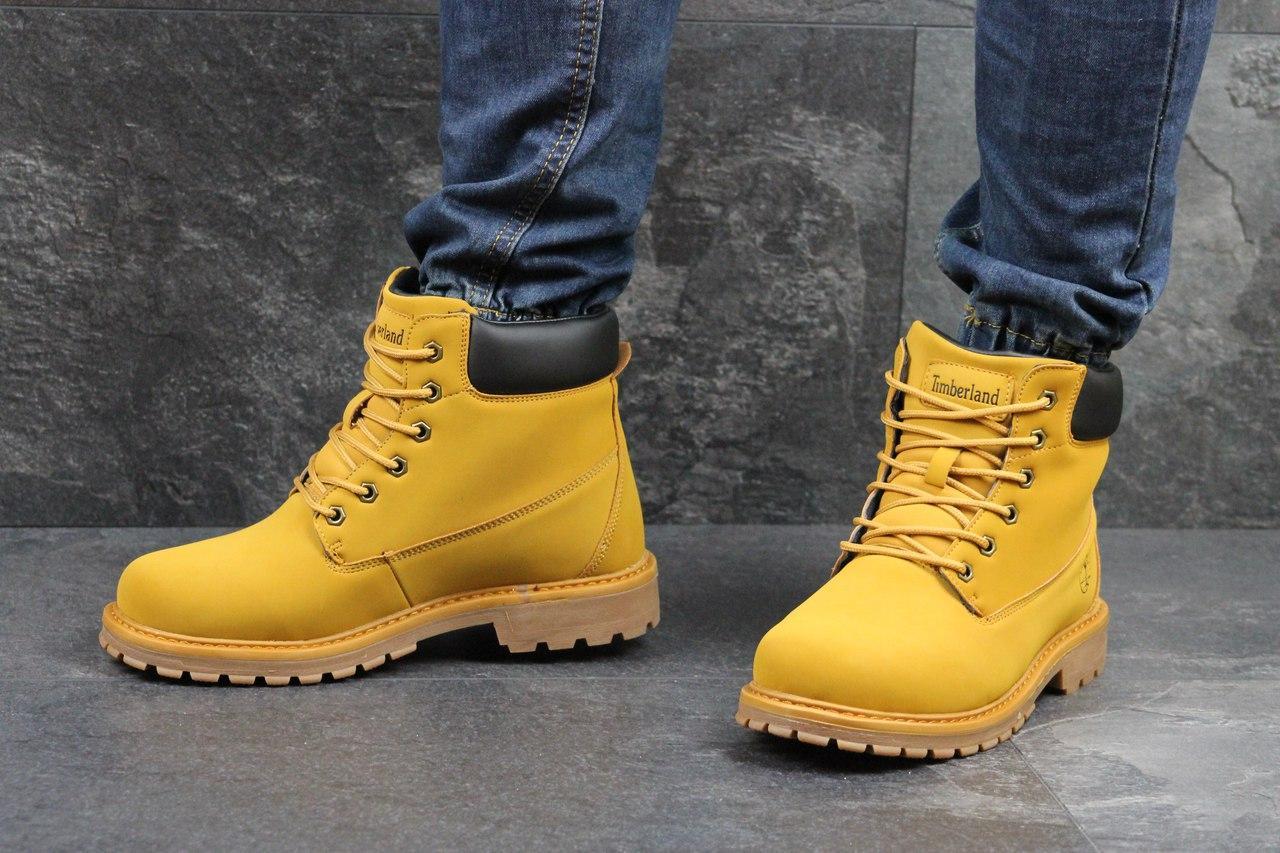 Ботинки мужские Timberland (золотистый), ТОП-реплика