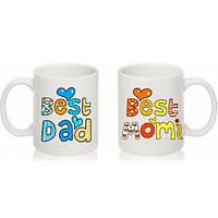 Парные чашки BEST MOM AND BEST DAD
