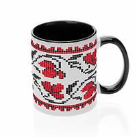 Чашка с украинским орнаментом №2