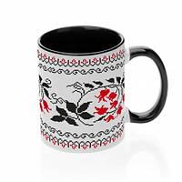 Чашка с украинским орнаментом №4