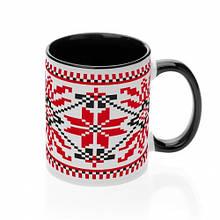 Чашка с украинским орнаментом №3