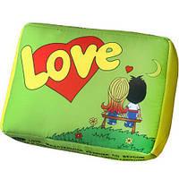 """Подушка в форме жвачки """"Love is"""" (салатовая)"""