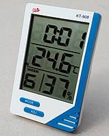KT908 Гигрометр термометр влагомер часы