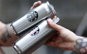 Банка Vacuum Cup Starbucks (цвет -сталь), фото 2