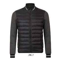 Куртка унисекс из двойного материала SOL'S VOLCANO, Черная, с нанесением логотипа, 01644