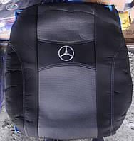 Автомобильные чехлы на сидения PREMIUM MERCEDES W210 1995-03г. з/сп цельная;подлок;5подгол;п/подлок;airbag