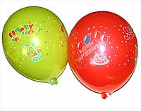 Воздушные шары 26 см пастель с рисунком ассорти Gemar 09831
