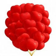 Воздушные шары 26 см пастель с рисунком сердце Gemar 56451