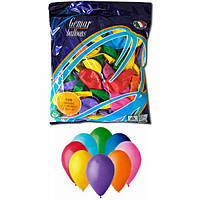 Воздушные шары 21 см пастель с рисунком ассорти Gemar 80801