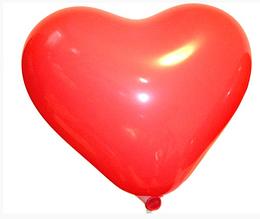 Повітряні кулі 16 см пастель з малюнком серце Gemar 57451