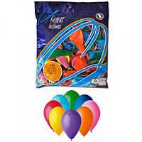 Воздушные шары 19 см пастель с рисунком ассорти Gemar 70801