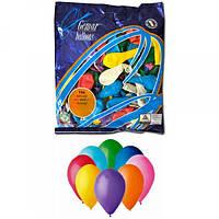 Воздушные шары 16 см пастель с рисунком ассорти Gemar 60801