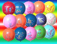 Воздушные шары 45 см пастель без рисунка арбуз ассорти Gemar 59800