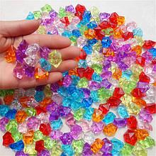 """Кристали """"Великі камені"""" осколки 1,5х1,5 см, 100 гр мікс 6 кольорів"""