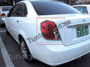 Хром окантовка задних стопов Chevrolet Lacetti sedan 2002-2013 (Clover)