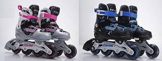Ролики с регулируемым размером RS16039 р.S 31-34, металл.рама,колеса PU,1 свет,2 цвета
