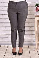 Классические брюки больших размеров серого цвета 029