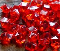 """Кристаллы """"Большие камни"""" осколки 1,5х1,5 см, 100 гр красные"""
