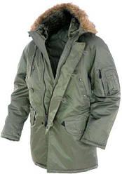 Куртка парка мужская   зимняя длинная   Аляска N3B  Teflon® by DuPont™   цвет олива  Mil-Tec Германия