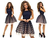 Женское Платье из гипюра с фатином пышное