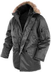 Куртка парка  зимняя длинная  - Аляска N3B  Teflon® by DuPont™ Mil-Tec цвет  черный  Германия