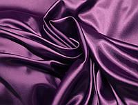 Ткань атлас стрейчевый тонкий фиолетовый