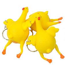 Антистресс игрушка - резиновая Курица несущая яйца, фото 3