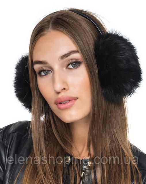 меховые наушники кролик черные  продажа 8cc27c3419212