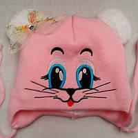 Зимняя шапка для девочек Глазки