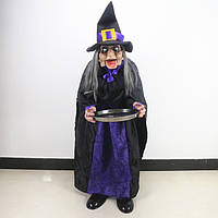 Баба яга ведьма реагирует на звук движение Funny Gadgets Scary Witch Induction Novelty Products