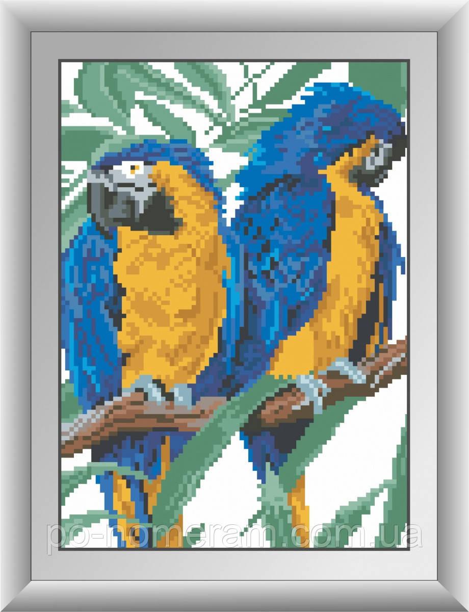 Алмазная вышивка Dream Art Два попугая (DA-30293) 20 х 28 см (Без подрамника)