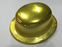 Шляпа пластик котелок блестящий 26*23см в ассортименте