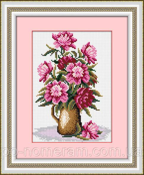 Картина из страз Dream Art Ваза с пионами (DA-30354) 17 х 23 см (Без подрамника)