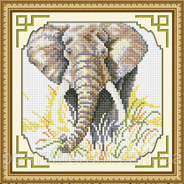 Набор алмазная мозаика Dream Art Слон (DA-30371) 20 х 20 см (Без подрамника)
