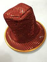 Шляпа высокая мягкая паетки 22*30см