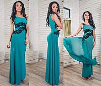 Вечернее облегающее платье, цвет зеленый. Veronika Mylton