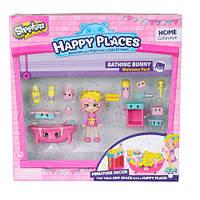 Набор с куклой HAPPY PLACES S1 – ВАННАЯ КОМНАТА БАБЛИ ГАМ