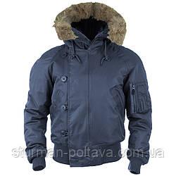 Мужская куртка  зимняя короткая   Аляска N2B  Teflon® by DuPont™ Mil-Tec цвет синий размер XXL    Германия