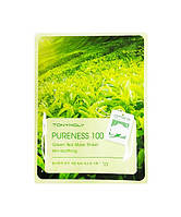 Тканевая маска Pureness 100 GREEN TEA MASK SHEET (зеленый чай)