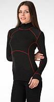 Джемпер женский, с красными строчками, 65% вискоза, 30% шерсти