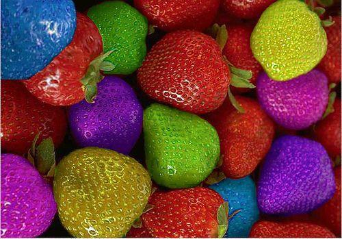 Семена разноцветной клубники! 200 шт. в упаковке!