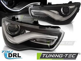 Передние фары тюнинг оптика Audi A1 с DRL