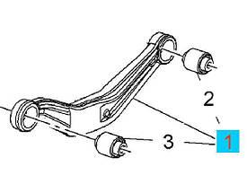 Рычаг задней подвески верхний левый (бумеранг) с сайлентблоками (втулками) GM 0423149 22940356 OPEL INSIGNIA п