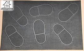 Коврик грязезащитный резиновый 58*37 см (ноги) К003