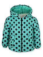 Детская куртка Рима в горошек ментол