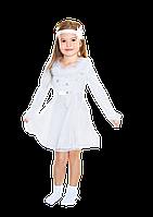 Детский карнавальный костюм Снежинка с пухом 28