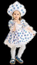 Дитячий карнавальний костюм Сніжинка з кокошником